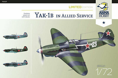 Arma Hobby 1/72 Model Kit 70029 Yakovlev Yak-1b Allied Service • 15.50£