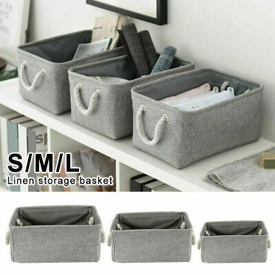 £5.99 • Buy Large Collapsible Fabric Storage Under Bed Bag Box Basket Clothes Organizer Cube