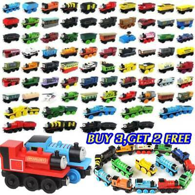 The Tank Engine Take-n-Play Engines & Carriages Magnetic Wooden Trains Toy XMAS • 2.99£