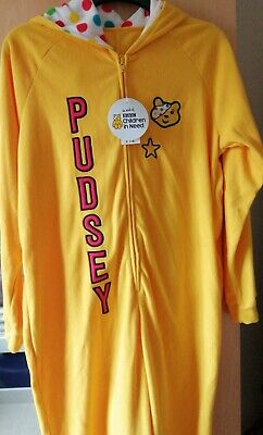 Adults Children In Need Hooded Pudsey Bear George Onesie (not Gerber) Size M.  • 12£