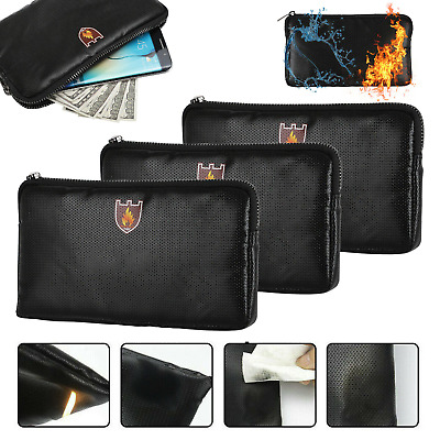 £8.69 • Buy Fireproof Waterproof Document Bag File Money Safe Box Secret File Protect Pouch
