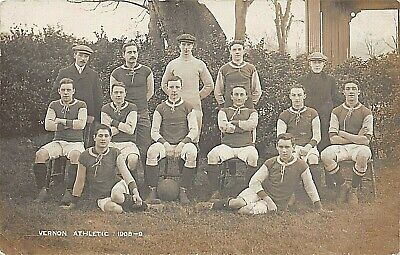 Postcard Sport - Football - Vernon Athletic Team 1908-09 - Rp • 12.90£
