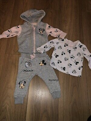 Primark Baby Girls Minnie Mouse Tracksuit Set 3/6 Months • 3£