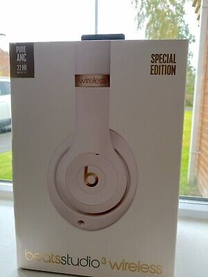 Beats By Dr Dre Studio 3 Wireless Special Edition Porcelain Rose Gold Headp • 79£