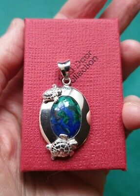Sterling Silver And Lapis Turtle Pendant, Fair Trade  • 44£