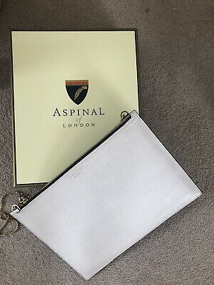 Aspinal Of London Large Clutch Bag With Chain • 44£