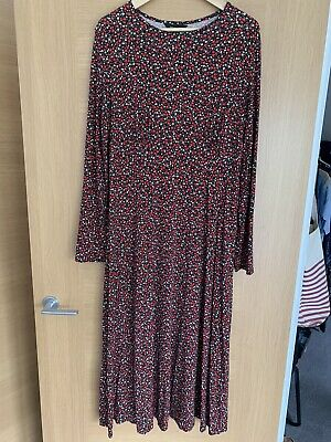 Brand New Red Floral Midi Dress Size 16 • 5.75£