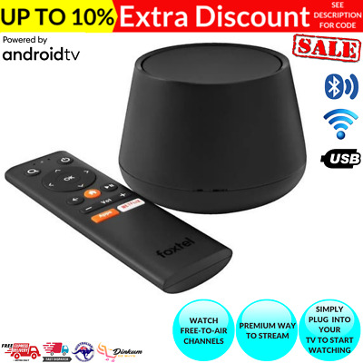 AU68.60 • Buy Foxtel Now Box Built-in Chromecast Ultra 4k Fta Tv Tuner Android Apps Usb Remote