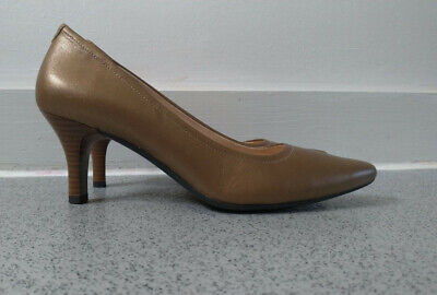 Rockport Gold Brown Pilot Path Pumps Heels Shoes US 8 UK 5.5 5/6 • 5.99£