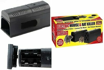 Electronic Mouse Trap Mice Rat Killer Pest Control Electric Zapper Rodent Catch • 18.98£