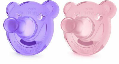 AU5.01 • Buy Baby Pack Of 2 Philips Avent Soothie Shapes Pacifier Pink/Purple 3+ Months New