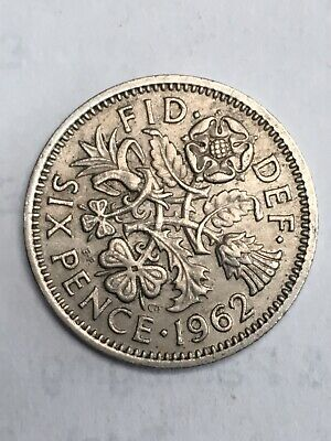 English Coin, Sixpence, 1962 • 0.99£