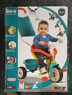 Smoby Be Be Move Baby Trike With Parent Handle | My First Toddler Tricycle, Easy • 39.99£