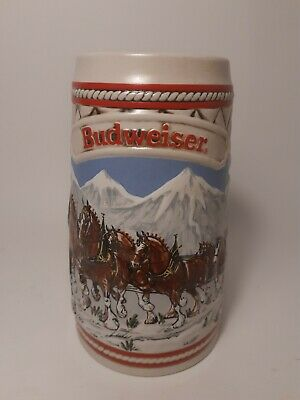 $ CDN21.99 • Buy Vintage 1985 Budweiser Series A Anheuser Busch Holiday Beer Stein Mug Clydesdale