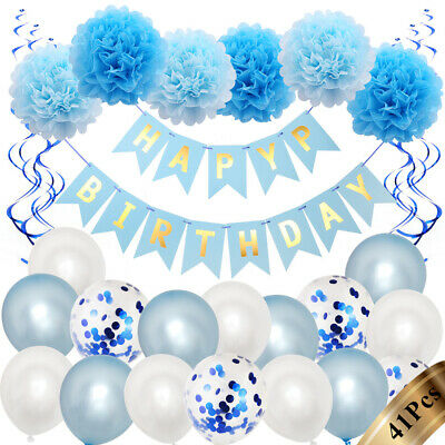 £6.99 • Buy Happy Birthday Party Decorations Banner Bunting Balloons 1st 18th 21st 30th+