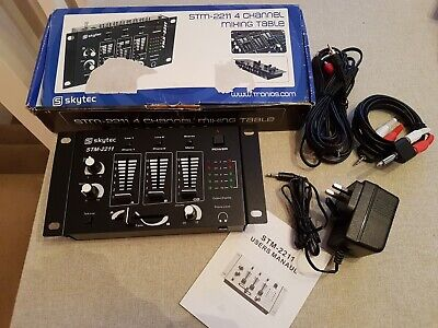 Skytec STM2211 4 Channel Mixer • 0.99£