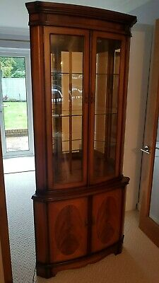 William Bartlett Mahogany And Yew Corner Display Cabinet    • 40£
