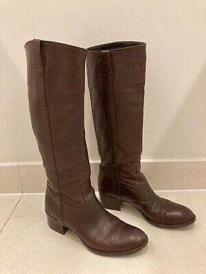 Gucci Womens Knee High Boots Brown Size 38 • 308£