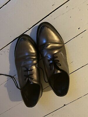 Doc Martens Pewter / Silver Leather Shoes - Size UK 5 • 9.80£