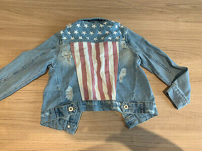 Union Jack Denim Jacket Size 7-8 • 1£