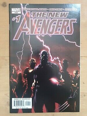 New Avengers (2005) #1 SIGNED BY BRIAN MICHAEL BENDIS Autographed Marvel Comics • 3£