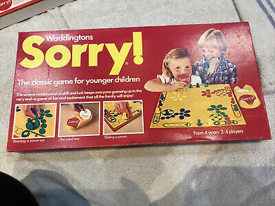 Waddingtons Sorry 1980 Game VGC 100% Complete • 20£