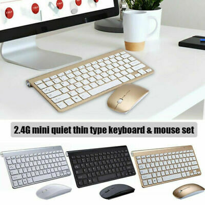 2.4G Waterproof Mini Wireless Keyboard And Mouse Set For Apple Mac PC Computer • 13.99£