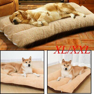 XL/XXL Dog Bed Pet Cushion Beds House Soft Warm Kennel Blanket Nest Washable UK • 16.95£