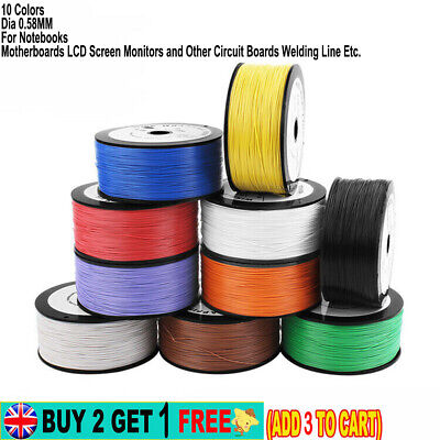 £10.59 • Buy 30AWG 250M Insulated Electronics Wire Dia 0.25MM For PCB Circuit Boards Welding