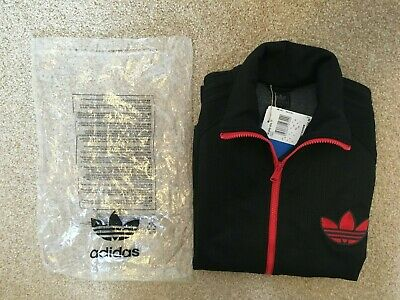 Adidas Originals Mens' Black Team Woven Track Top - UK Medium Rare BNWT • 60£