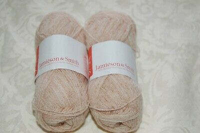 Jamieson & Smith Lace Weight Yarn Colour L202 Lot 07669 2 X  25 G Ball • 7£
