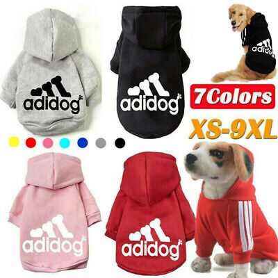 Pet Dog Clothes Winter Casual Adidog Warm Hoodie Coat Jacket  XS~9XL • 3.89£