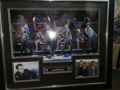 Gary Barlow Signed Autograph Take That Music COA Large Framed Picture • 90£