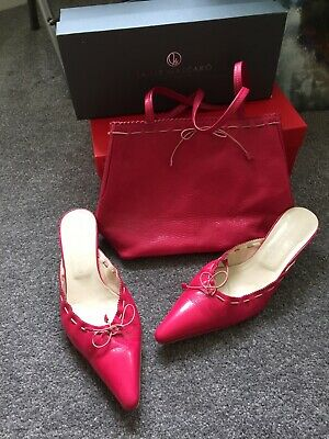Jaime Mascaro Pink Shoes Size 6 In Box With Matching Hand Bag Great Condition • 22£