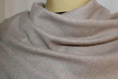 £7.99 • Buy Light Weight Softest Wool Blend Knit Suiting Coating Fabric (Washed Pink Taupe)