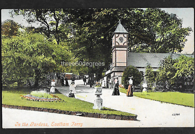 Vintage Cheshire Postcard: In The Gardens,  Eastham Ferry.  • 3.50£