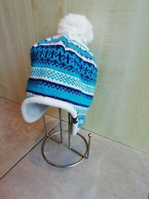 Peter Storm Winter Bobble Hat. Child's Size. Fleecy Lining. Covers The Ears, • 4£