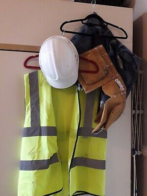 Mens Large Sexy Construction  Worker / Coke Break With Suede Toolbelt  Hat YMCA  • 12.99£