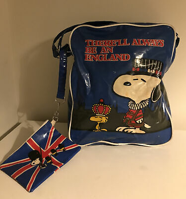 SNOOPY Vintage Bag & Side Bag/Purse-There'll Always Be An England-RARE • 28£