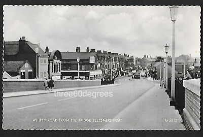 Vintage 1960s RP Cheshire Postcard: Whitby Road From Bridge, Ellesmere Port.  • 3.99£