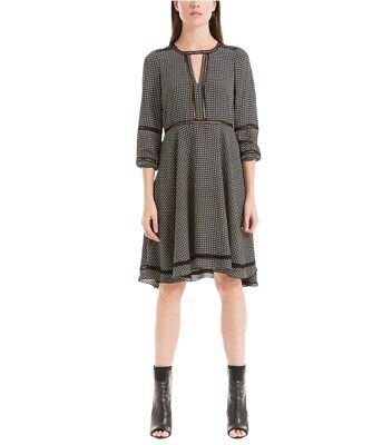 AU114.19 • Buy Max Studio London Womens Printed A-line Dress, Black, X-Small