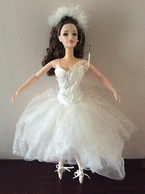 Barbie Doll Swan Lake Fairy Queen Clothes Dress Fashion Gown Outfit • 40£