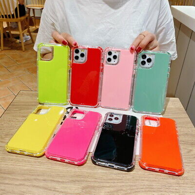 AU6.06 • Buy 3 In 1 Shockproof Silicone Case Cover For IPhone 12 Pro Max 12 Mini 11 XS XR 8 7