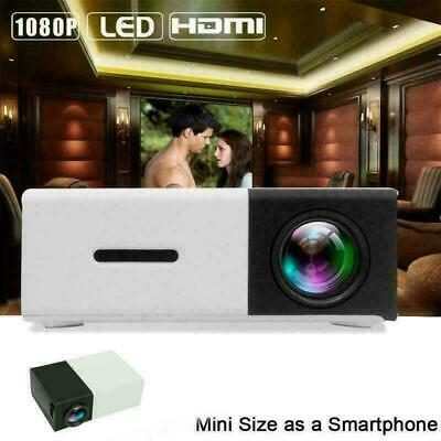 AU67.90 • Buy Mini 600Lm YG300 LED Home Theater Projector 1080P Cinema Multimedia HDMI USB SD