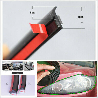 $ CDN15.67 • Buy 5M Rubber Sealing Strip Inclined T-shaped Fit For Car Headlight Side Skirt Edge