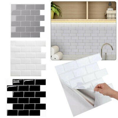 Mosaic Tile Stickers Stick On Bathroom Kitchen Home Wall Decals Self-adhesive UK • 6.99£