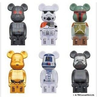 $114.90 • Buy Medicom Toy Cleverin X BE@RBRICK  Bearbrick Star Wars All 6 Complete Set