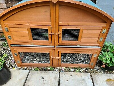 Double Rabbit Hutch With Run • 120£