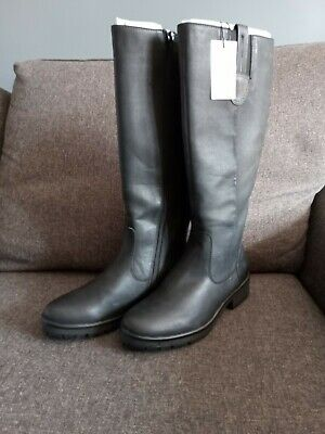 Pavers Long Black Boots Size 5 Low Heel Textured Sole Brand New Unworn  • 30£