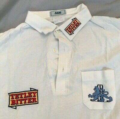 England Cricket Shirt Vintage 1990s Tetley Bitter Very Rare Fantastic Condition • 50£